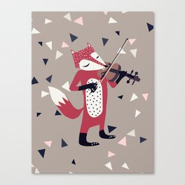 red foxy violinist Canvas Print