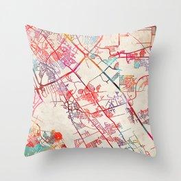 Socorro map Texas TX Throw Pillow