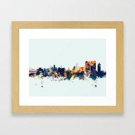 Calcutta Kolkata India Skyline Framed Art Print
