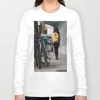 backpack Long Sleeve T-shirts featuring Bikes and backpack by RMK Photography