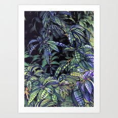 leaves evolved 4 Art Print