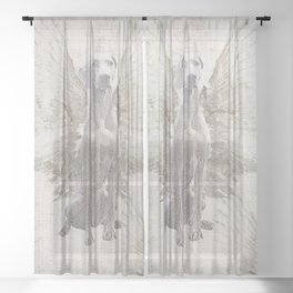 WEIMARANER WINGS Sheer Curtain