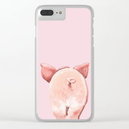 Pig Cutie Butt in Pink Clear iPhone Case
