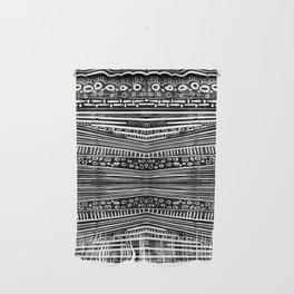 Linocut Tribal Pattern Wall Hanging