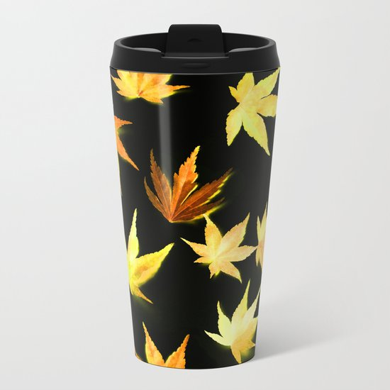AUTUMN ROMANCE - LEAVES PATTERN #4 #decor #art #society6 Metal Travel Mug