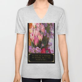Rumi Quote - I will Meet You There Unisex V-Neck