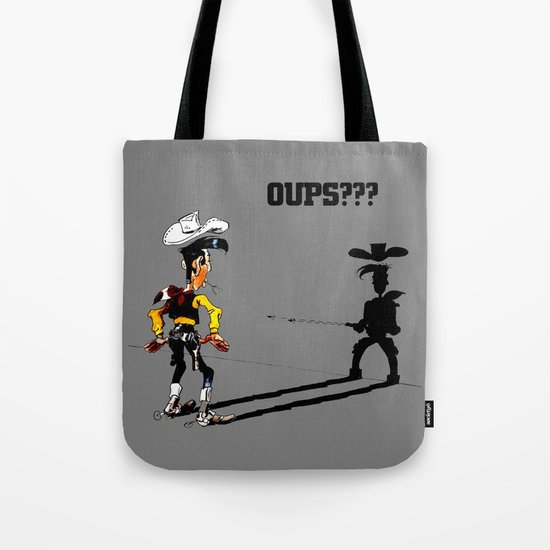 Fast shadow - OUPS - grey version Tote Bag