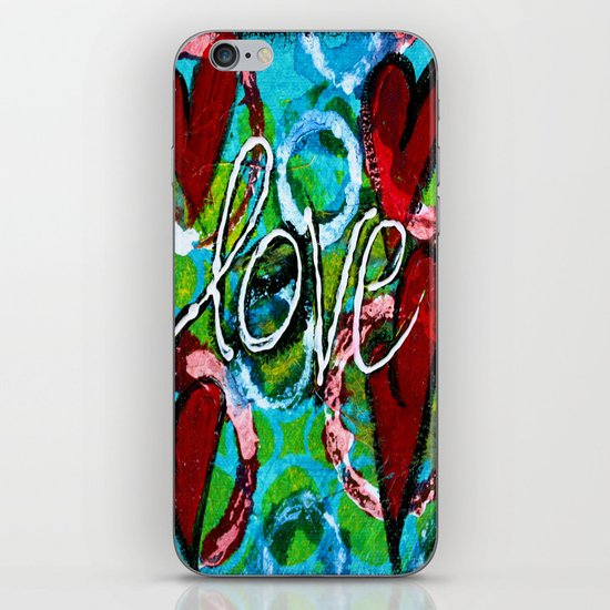 Four Hearts of Love iPhone & iPod Skin