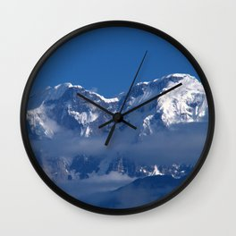 Annapurna, Himalayan Mountain Range seen from Gaunshahar - Greg Katz Wall Clock