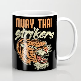 Muay Thai Strikers Tiger Kickboxing MMA Material Arts Judo Karate Gift Coffee Mug