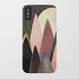 Pink and Gold Peaks iPhone Case