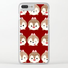 Chip And Dale Pattern Clear iPhone Case