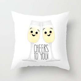 Cheers To You! Champagne Throw Pillow