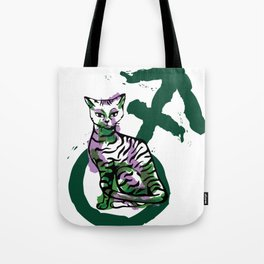 Androgyny Grabs Back Tote Bag