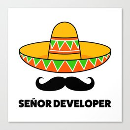 Senior Developer Canvas Print