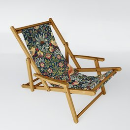 Strawberry Thief by William Morris 1883 Antique Vintage Pattern CC0 Spring Summer Sling Chair