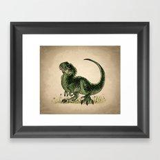 Baby T-Rex Framed Art Print