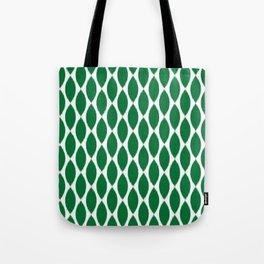 Green Ikat Petals Tote Bag