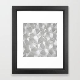 White polygonal landscape Framed Art Print