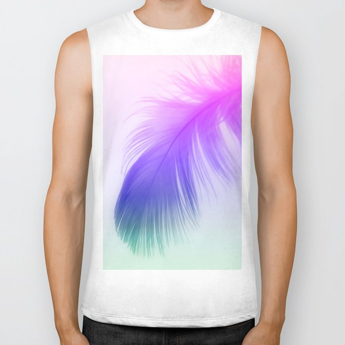 Painted Feather Biker Tank