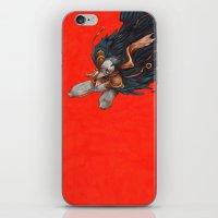 birdman iPhone & iPod Skins featuring Birdman by Anna Landin