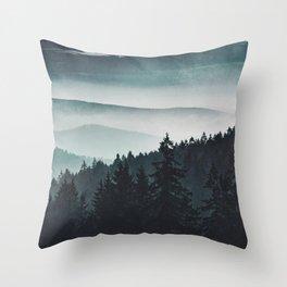 Mountain Light Throw Pillow
