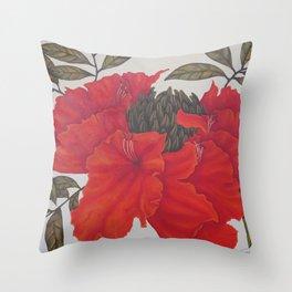 Spathodea Campanulata Throw Pillow