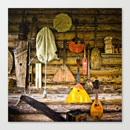 Folk musical instruments Canvas Print