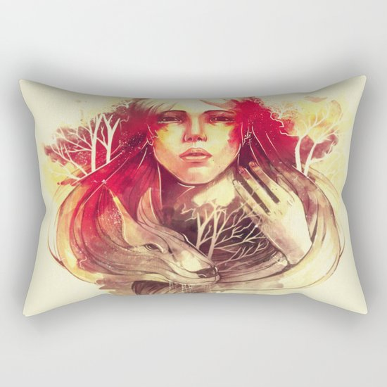 Purity In Red Rectangular Pillow