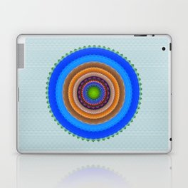 Colourful mandala with tribal patterns Laptop & iPad Skin