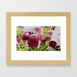 Pink Summer Flowers Framed Art Print