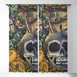 Time Is Money Blackout Curtain