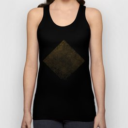 Gold Optical Illusion Pattern Unisex Tank Top
