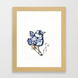 Bird/Cigarette  Framed Art Print
