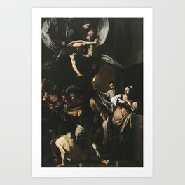 The Seven Works of Mercy - Caravaggio Art Print