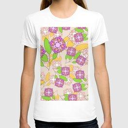 Simple geometric bloom T-shirt