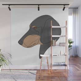 Dachshund - one line drawing Wall Mural