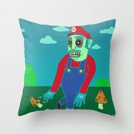 Shroomario Throw Pillow