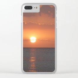 Bokeelia Sunset Clear iPhone Case