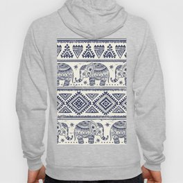 Vintage ethnic aztec with lovely elephants hand drawn illustration pattern Hoody