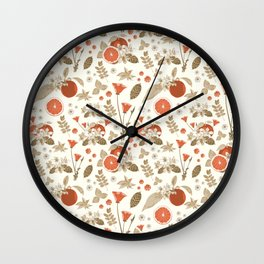 Vintage Clementine Wall Clock
