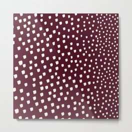 white dotes Metal Print