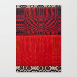 Fabric Art Red Canvas Print
