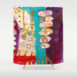 Doodle Me Happy Shower Curtain