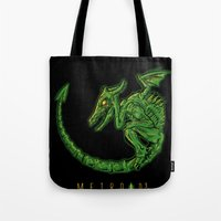 metroid Tote Bags featuring Metroid 3 by MeleeNinja