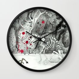 Horrible Holiday Series: Rejected Rudolf Wall Clock