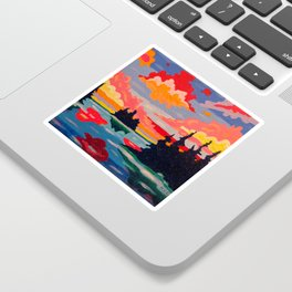 Northern Sunset Surreal Sticker