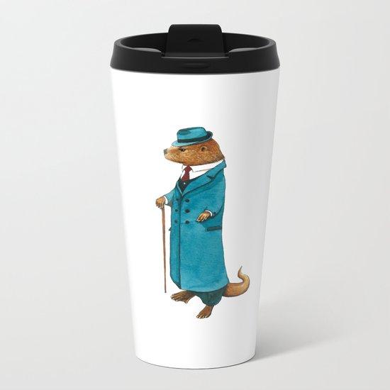 Otter in suit Metal Travel Mug