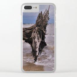 Drift Wood Beach 6 Clear iPhone Case