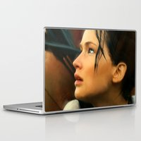 katniss Laptop & iPad Skins featuring Katniss by Kate Dunn
